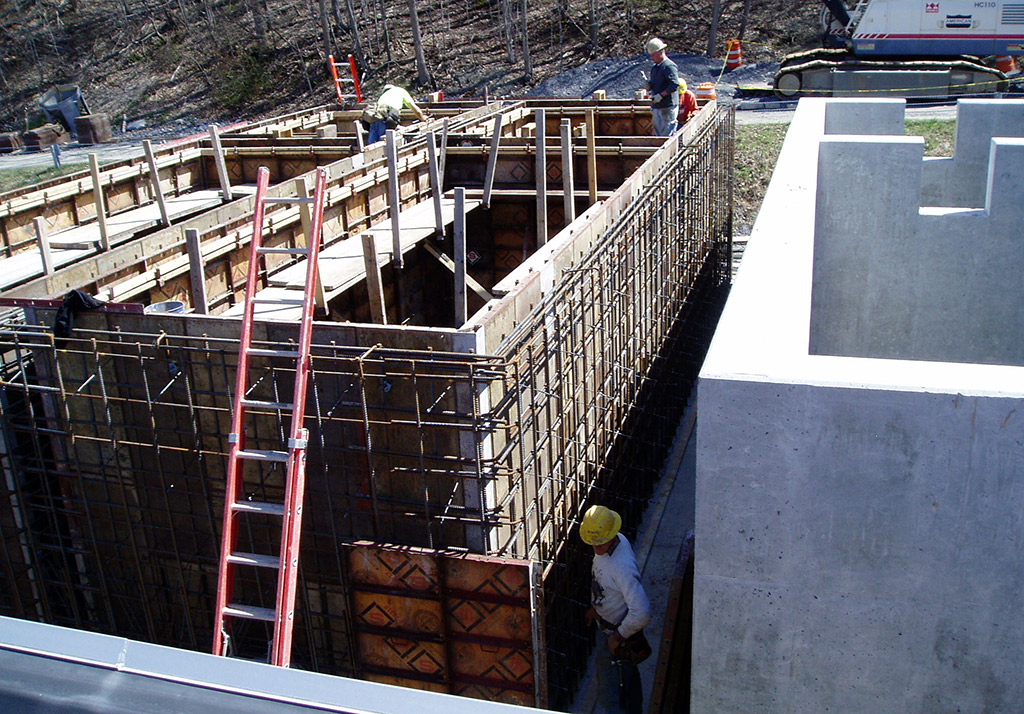 Water Filter Beds Under Construction